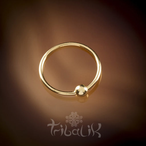 Traditional Indian 18k Yellow Gold Plated Silver Nose Ring