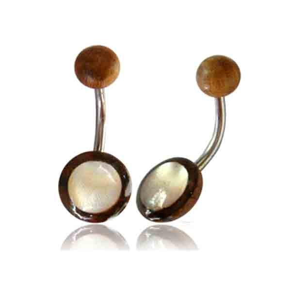 Belly Bar- Tamarind wood & Mother of Pearl