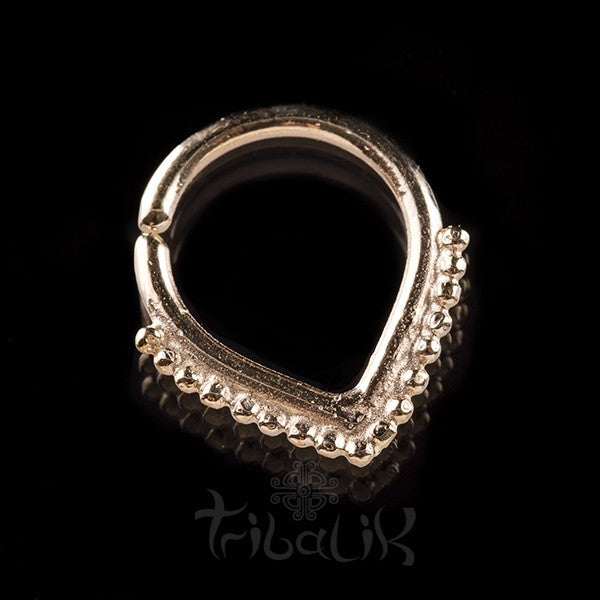 Teardrop 14k Solid Gold Septum Ring