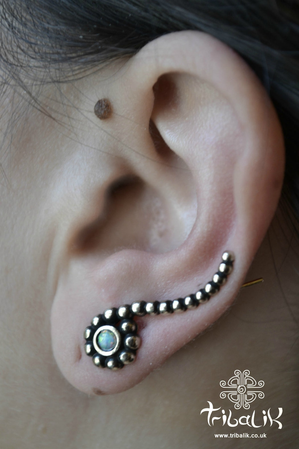 Brass Ear Climber | Opalite