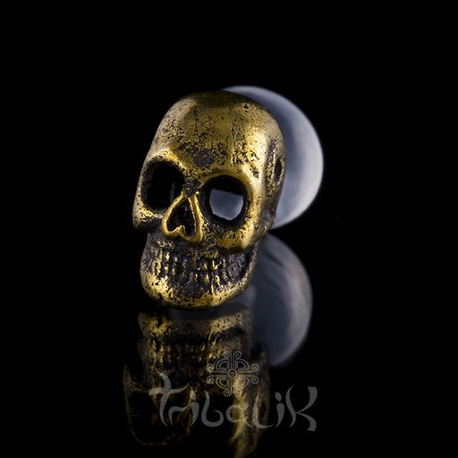 Skull Brass Labret Stud/Bar