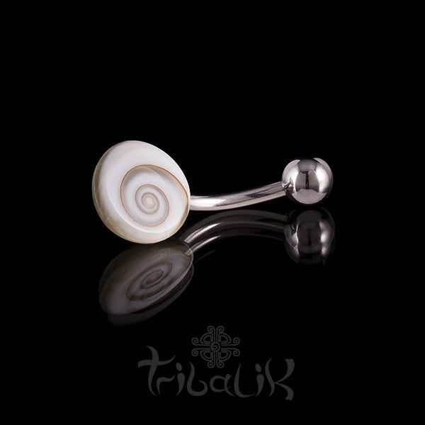 Shiva Eye Disc Belly Bar- Naval Piercing