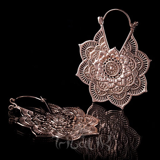 18K LA FLOR Rose Gold Plated Earrings