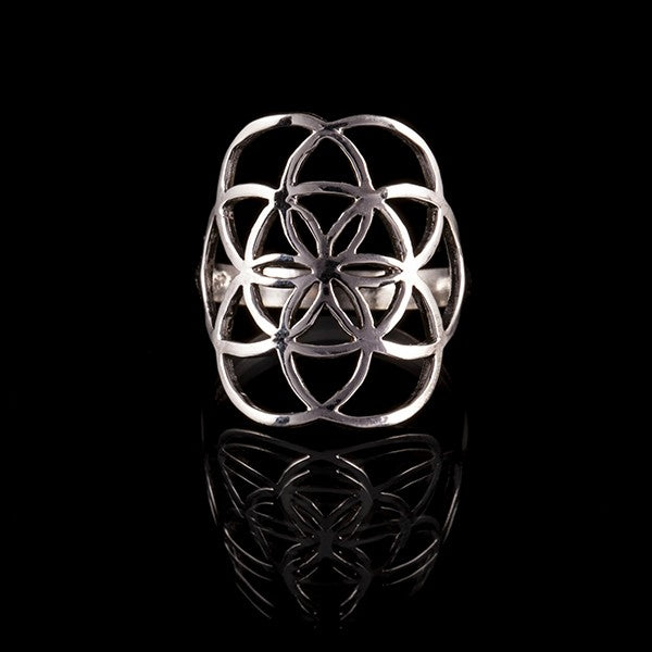 925 silver seed of life ring