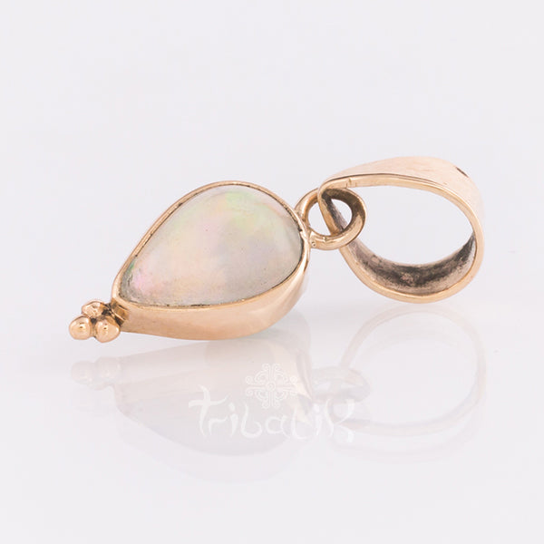 14k gold opal tear drop pendant