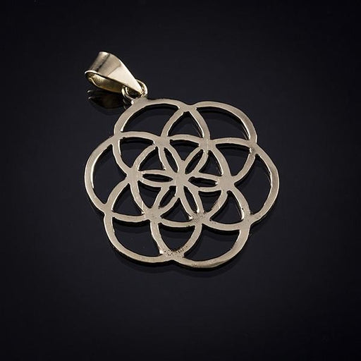 Gold Vermeil Flower Of Life Pendant