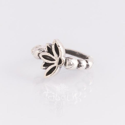 Sterling silver piercing ring for various piercings- Lotus flower