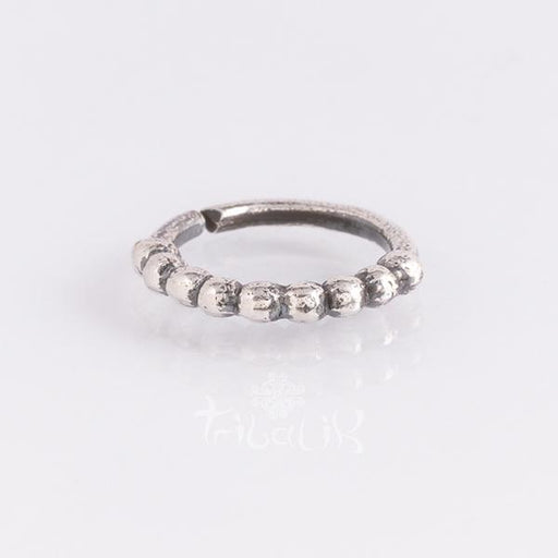 Sterling silver piercing ring for tragus or various piercings- Dotted ring