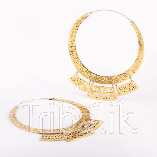 Brass Statement Earrings - Olteca