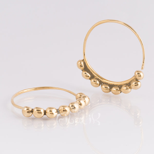 Miao Brass Hoop Earrings