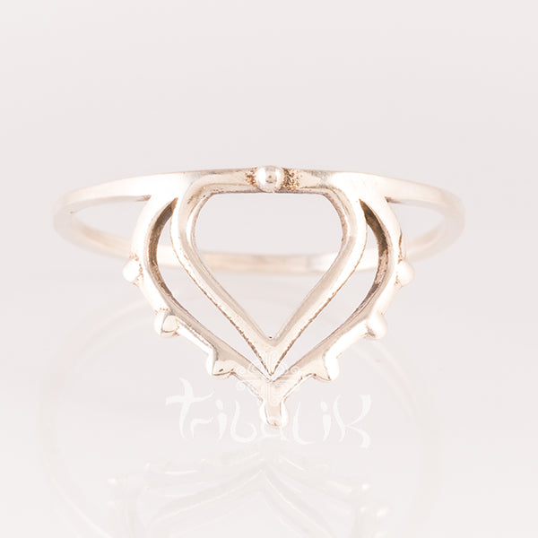 Sterling Silver Ring- Lotus Crown
