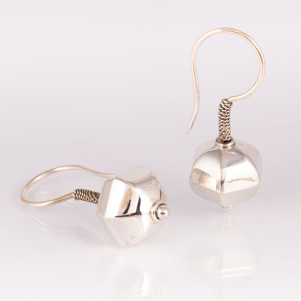 Sterling Silver Drop Earrings -Temple