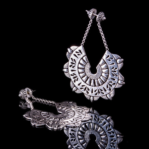 gypsy queen silver dangly earrings