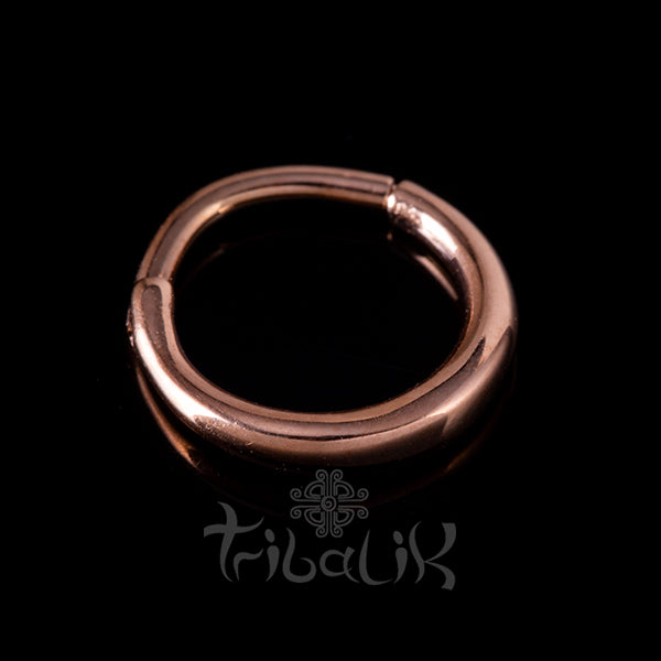 Stainless Steel Rose Gold Plated Seamless Septum or Piercing Clicker Ring