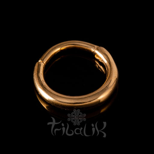 gold septum clicker ring