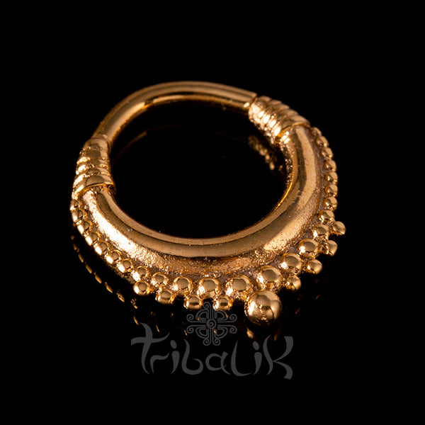 tribal septum gold clicker