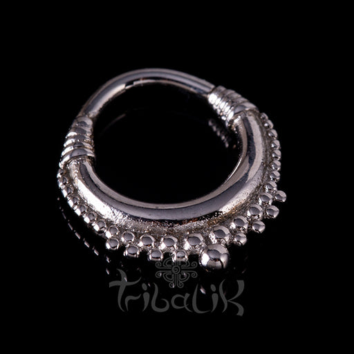 Stainless Steel Silver Plated Clicker - Tribal Design