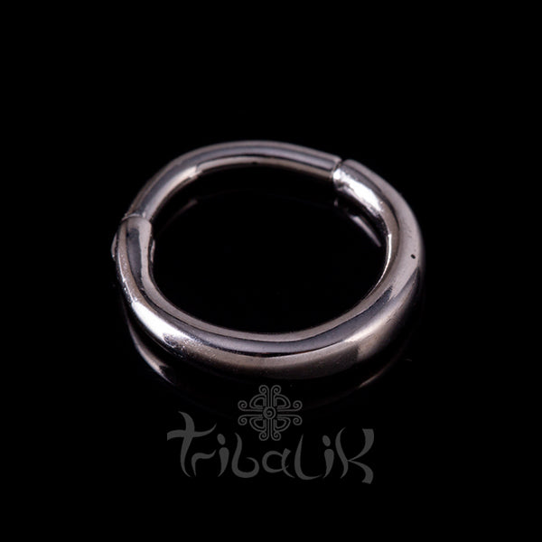 Stainless Steel Silver Plated Seamless Clicker Ring