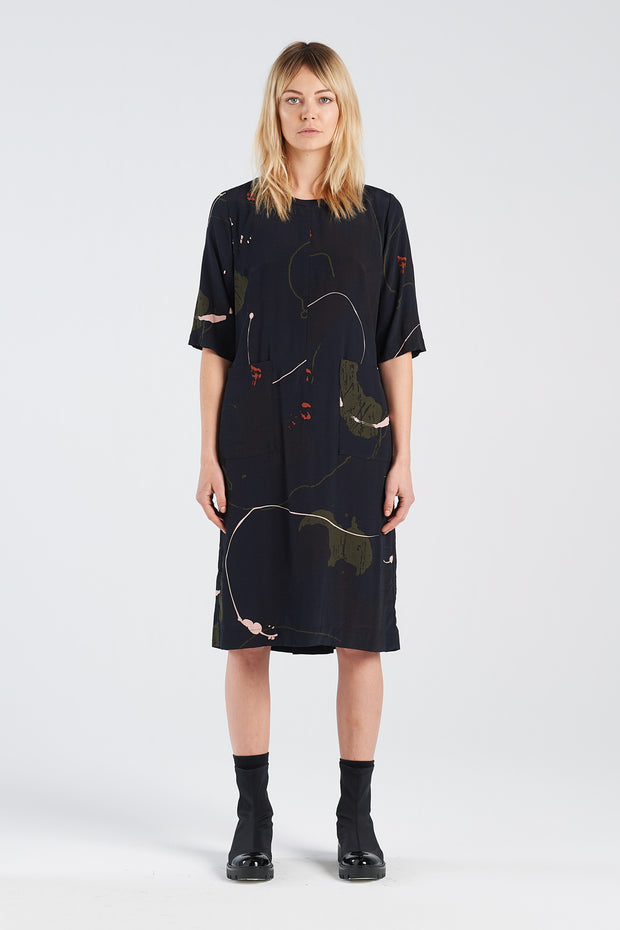 Nyne stockists Therapy Dress Rorschach NZ Designer NZ Made