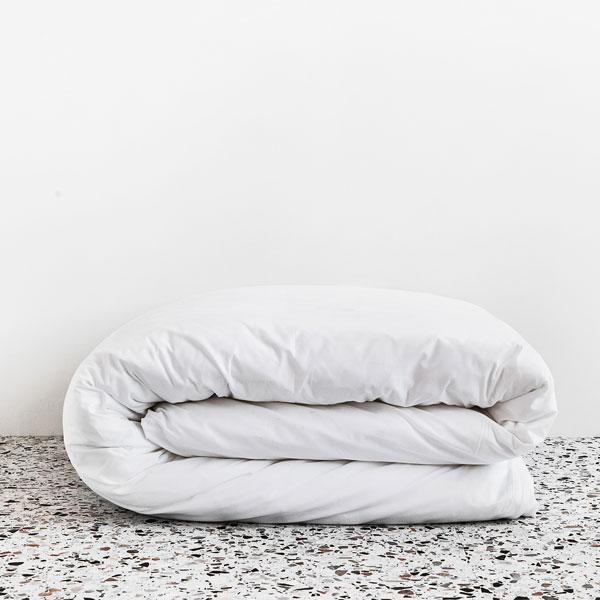 George Street Linen Auckland Stockists Cotton Percale Duvet Cover White or Fog