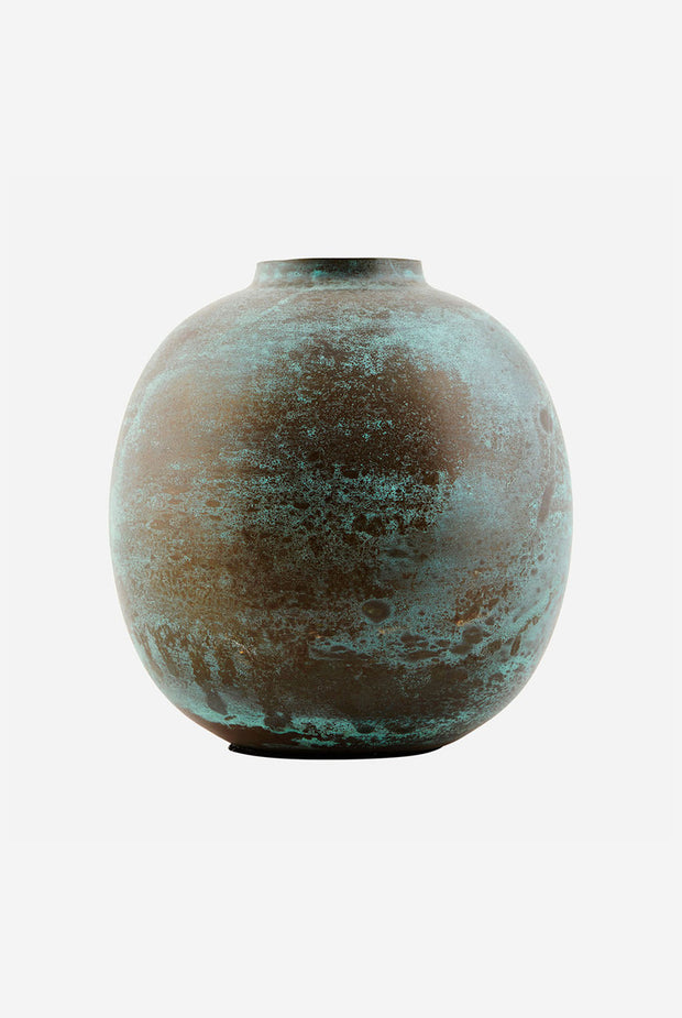 House Doctor Eggshell effect vase green copper Shop homewares NZ new Zealand Ponsonby Bluedoor