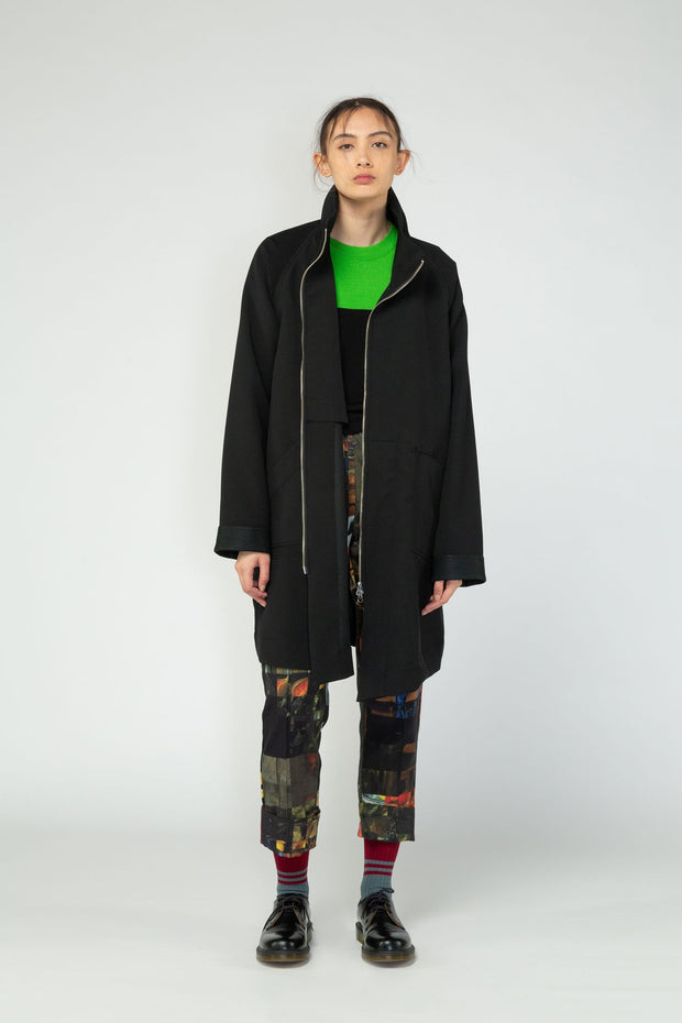 Nom*d stockists Turn Coat Black NZ Designer NZ Made
