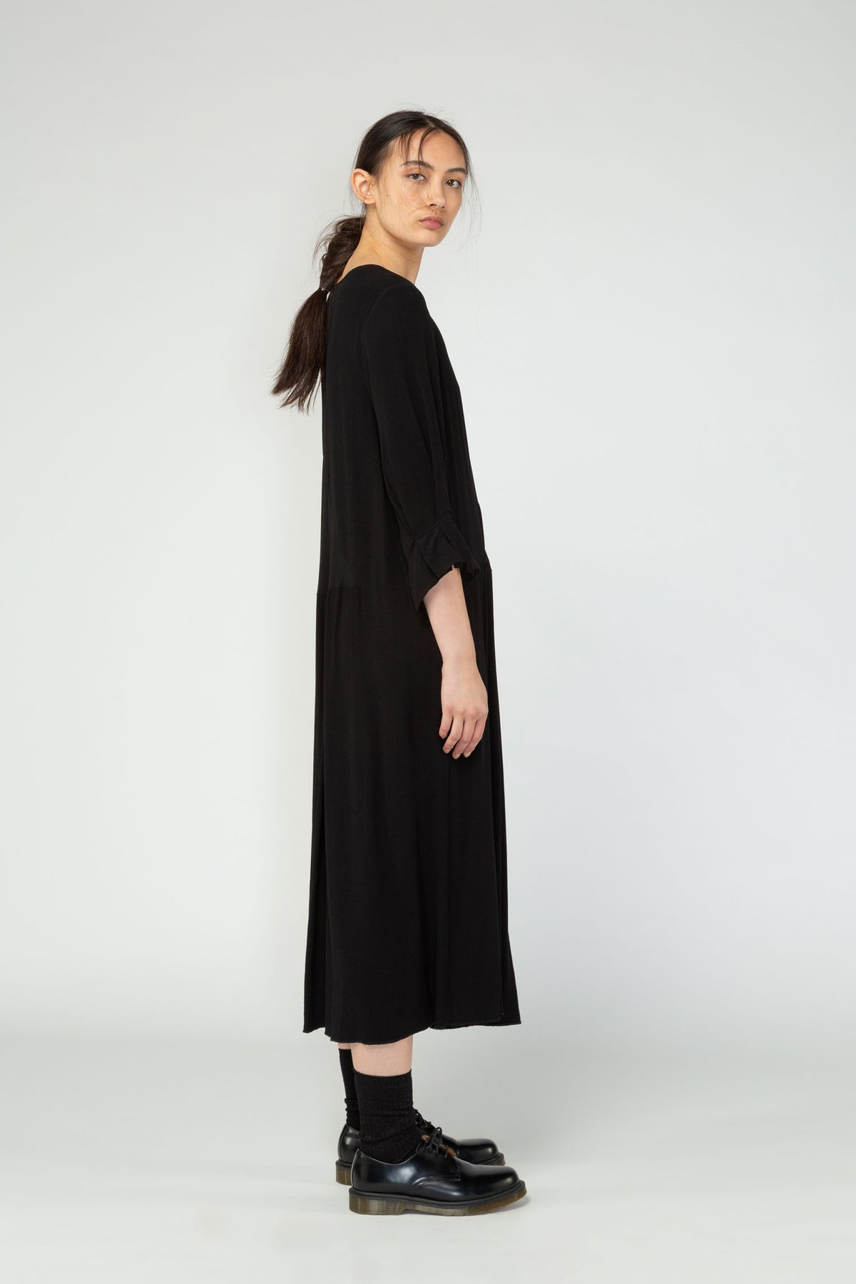 Nom*d dissection dress black 3//4 sleeve new season nz made