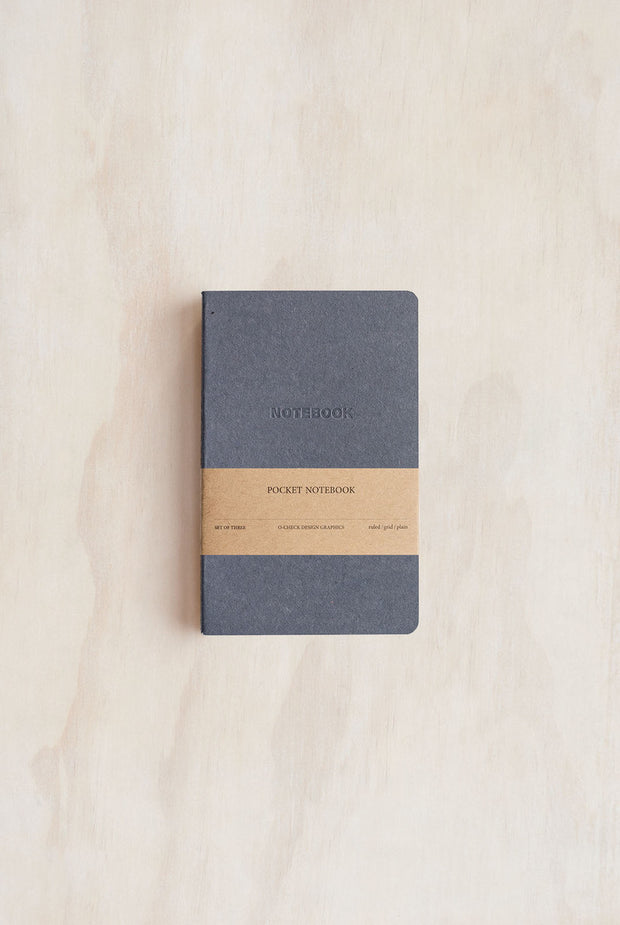 POCKET NOTE BOOKS SET OF 3