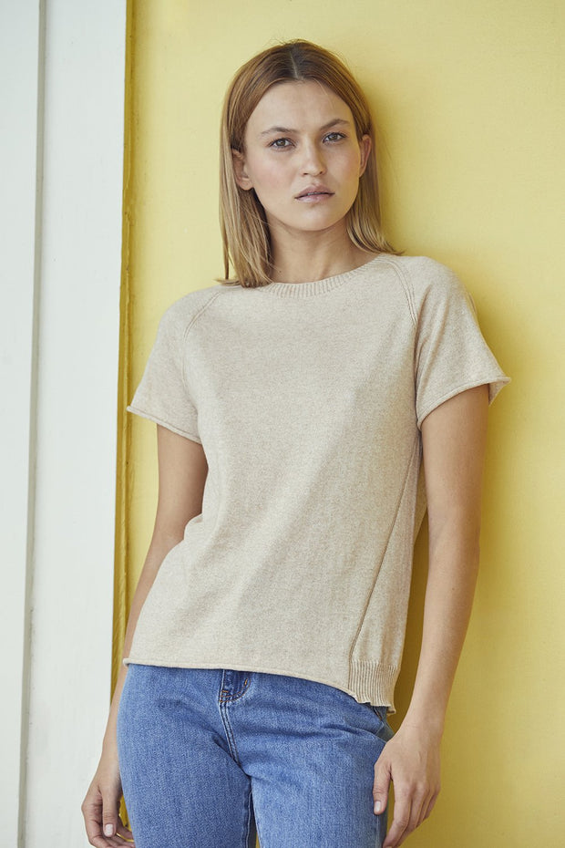 Standard Issue Luxe Seamed Tee Stockists Auckland Made in New Zealand NZ Designer Clothing