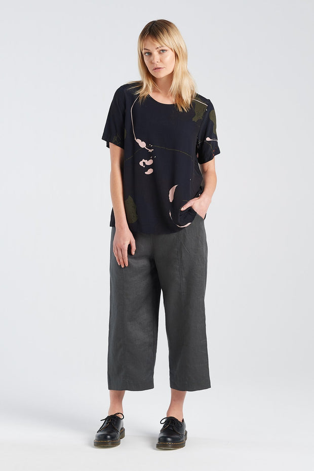 Nyne Arc Top Rorschach Shortsleeve made in new zealand nz designer stockists fashion parnell