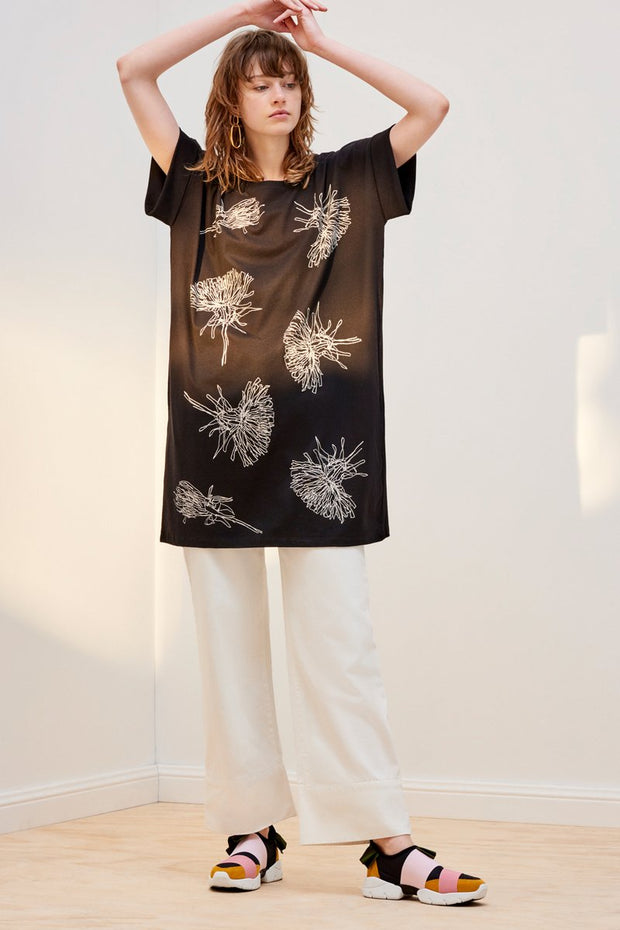 kowtow dandelion dress black organic cotton ethical clothing stockists Auckland Ponsonby