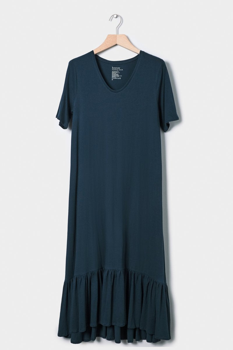 kowtow gather hem dress building block cotton organic ethical stockists Auckland Ponsonby