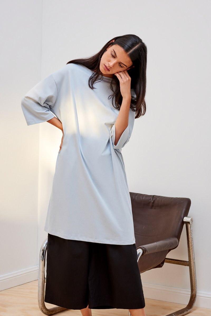 kowtow building block relaxed boat neck dress ethical organic fairtrade cotton NZ Designer stockists new zealand fashion shop online ponsonby