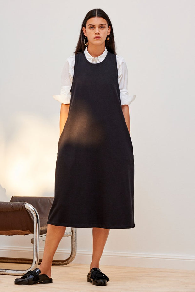 kowtow building block twist back dress black organic cotton ethical clothing stockists Auckland Ponsonby