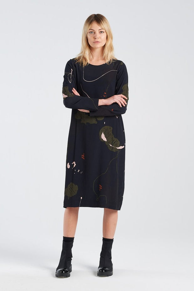 Nyne stockists Harmony Dress Rorschach NZ Designer NZ Made
