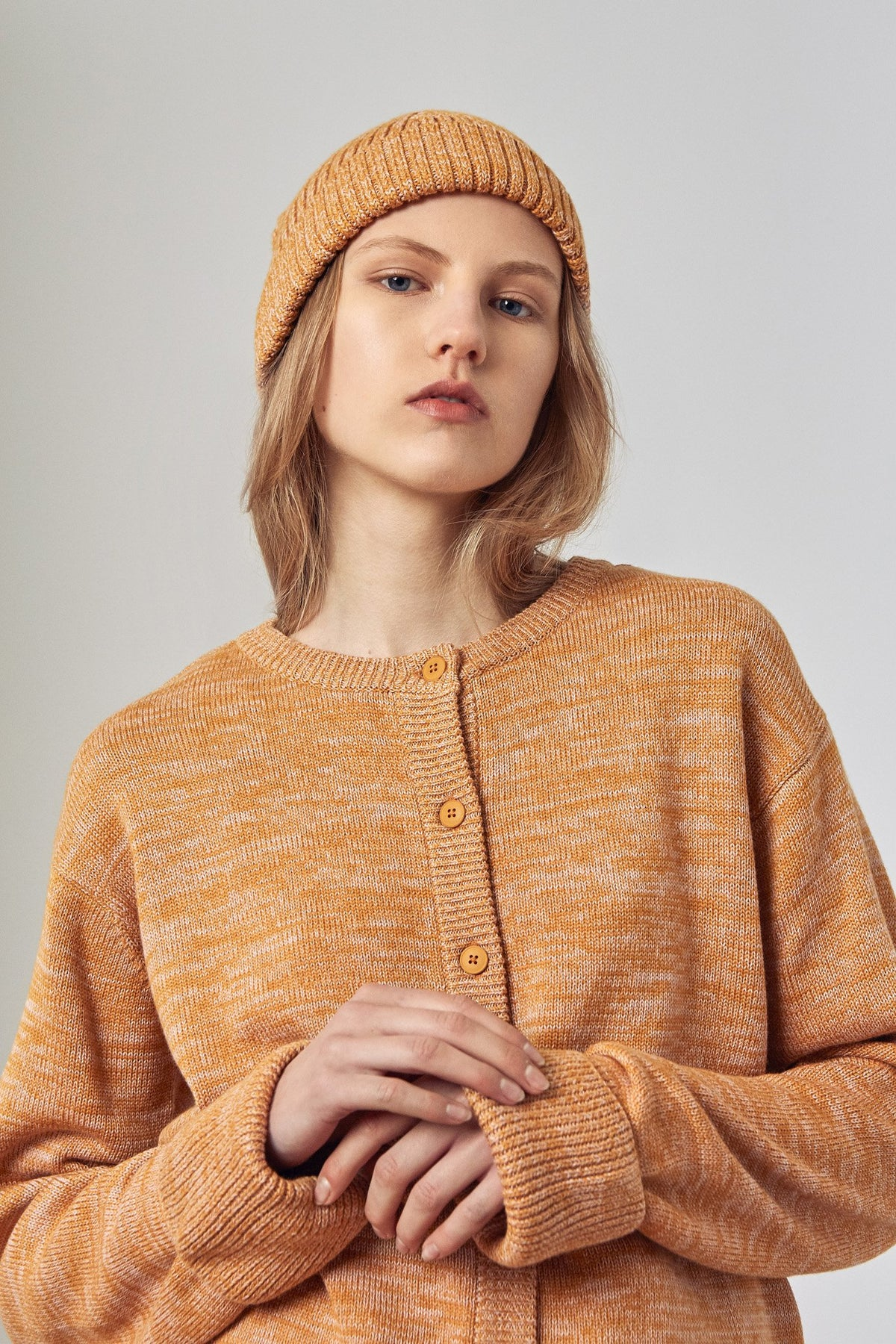 Kowtow stockists Horizon Beanie Amber Merino Ethical Organic Fairtrade