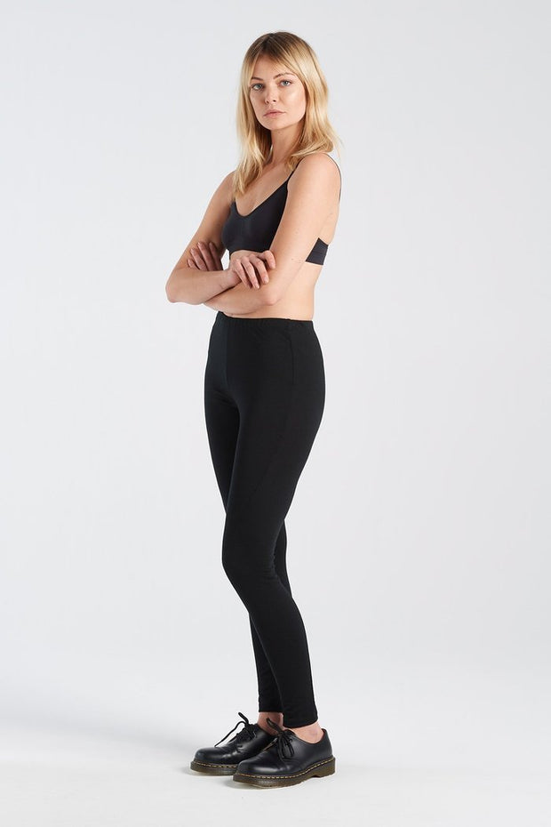 Nyne stockists Image Legging Black Merino NZ Designer NZ Made
