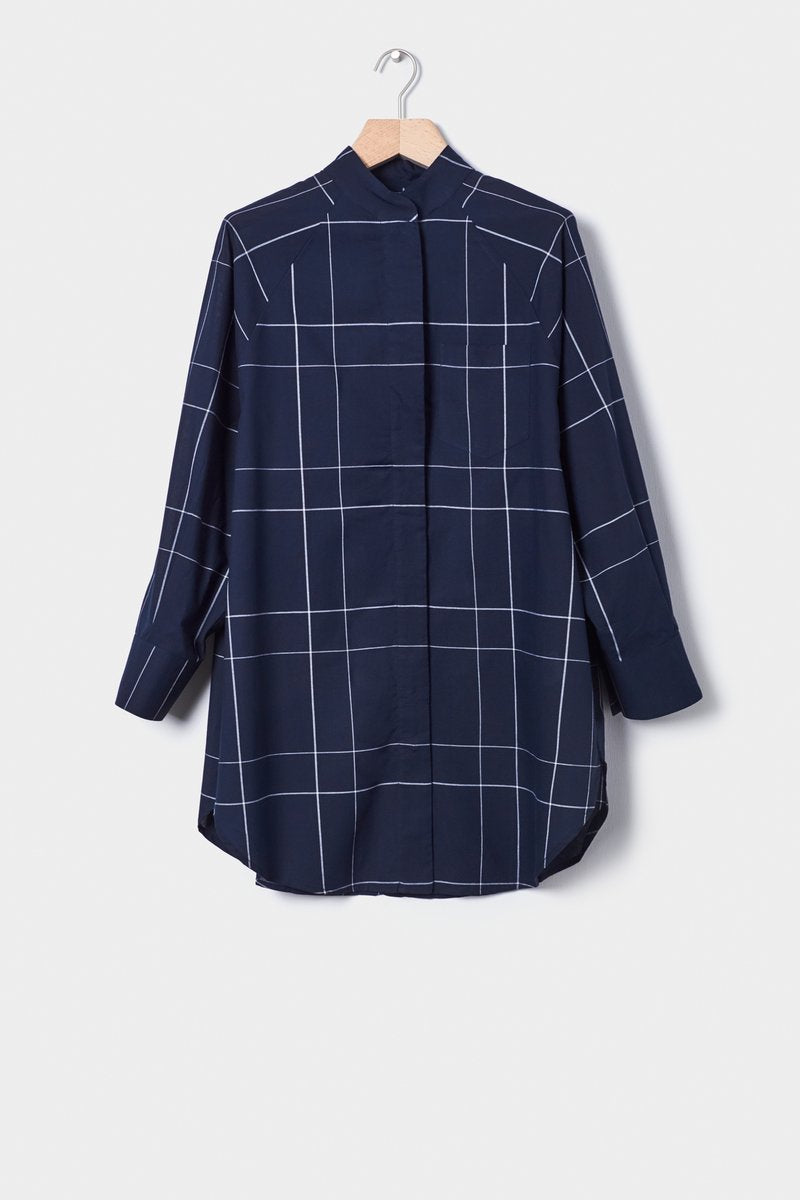 kowtow just love shirt check organic cotton ethical clothing stockists Auckland Ponsonby