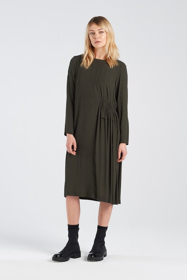 Nyne stockists Metaphor Dress Moss NZ Designer NZ Made