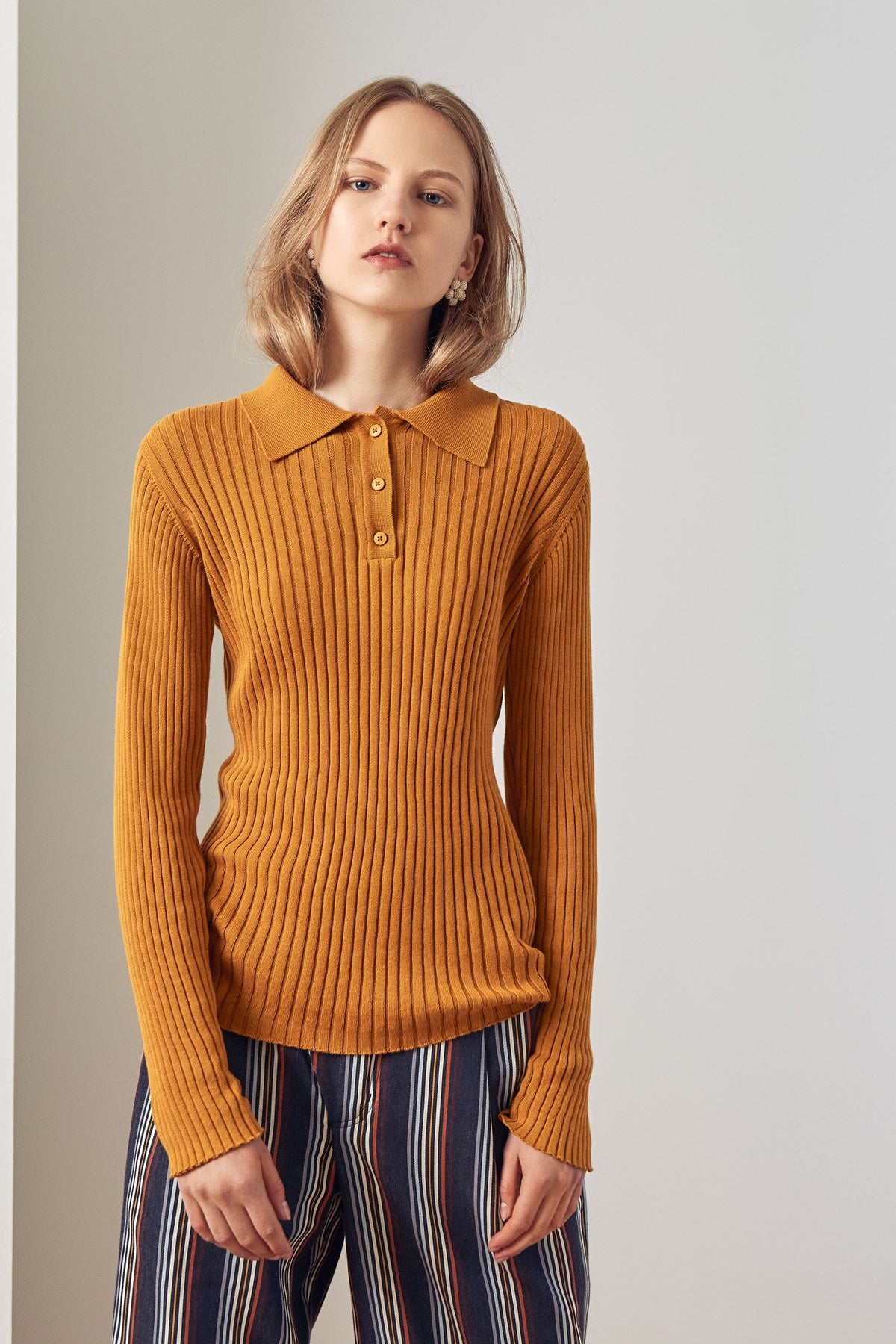 Kowtow stockists Rib Polo Amber Ethical Organic Fairtrade