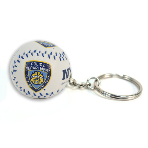 NYPD Baseball Keychain -  Gifts at the 9/11 Tribute Museum