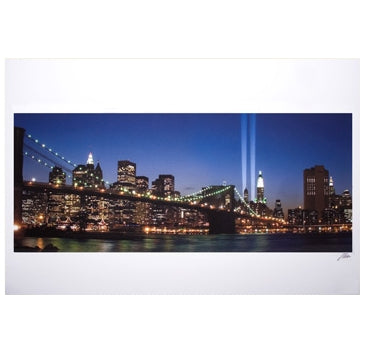 Memorial Lights Large Poster -  Gifts at the 9/11 Tribute Museum