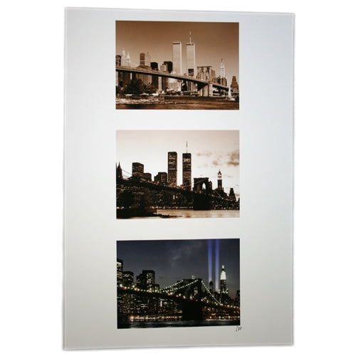 Twin Tower Tri-photo Poster -  Gifts at the 9/11 Tribute Museum