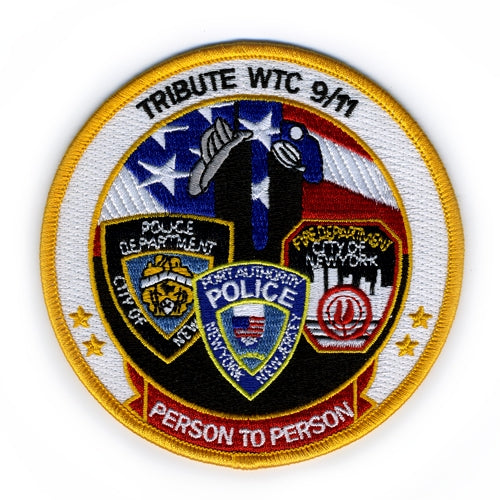 FDNY, NYPD and PAPD Rescue Patch -  Gifts at the 9/11 Tribute Museum