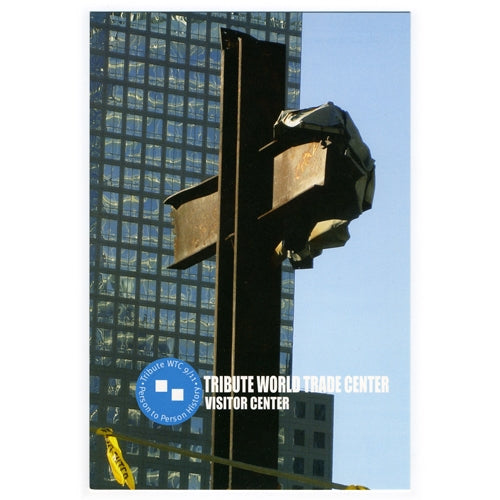 Recovered World Trade Center Steel Cross Postcard -  Gifts at the 9/11 Tribute Museum