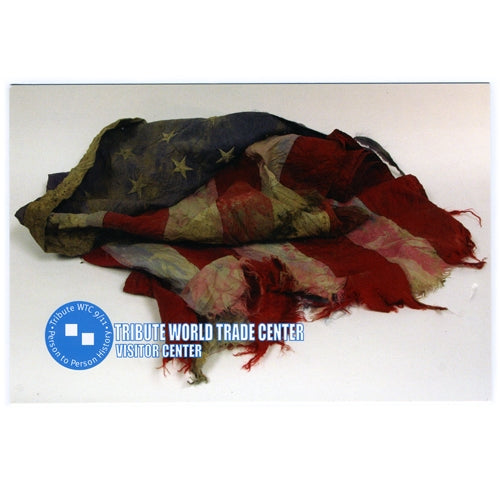 Recovered American Flag Postcard -  Gifts at the 9/11 Tribute Museum