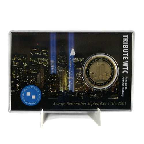 Commemorative 9/11 Tribute Center Coin in Display Case -  Gifts at the 9/11 Tribute Museum