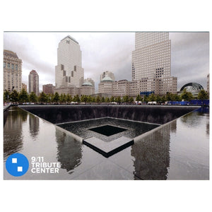 9/11 Memorial Pool Postcard -  Gifts at the 9/11 Tribute Museum