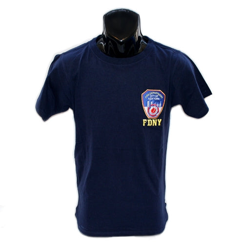 FDNY Emblem Patch T-Shirt -  Apparel at the 9/11 Tribute Museum