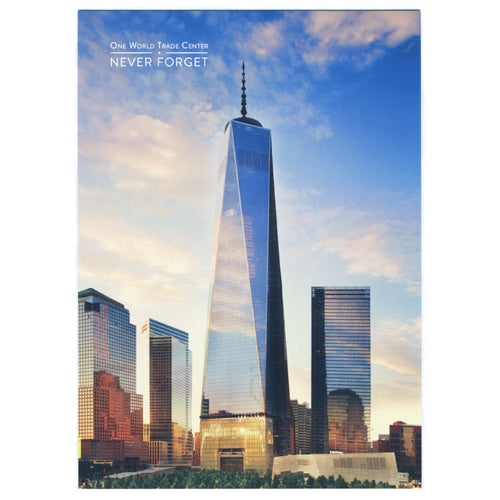 One World Trade at Sunset Postcard -  Gifts at the 9/11 Tribute Museum